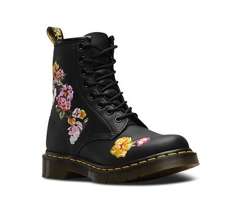 1460 Vonda II 经典刺绣款8孔靴 黑色 24067001