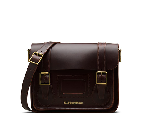 Leather Satchel 樱桃红 AB096230