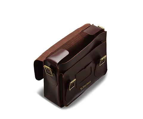 Leather Satchel 樱桃红 AB096230